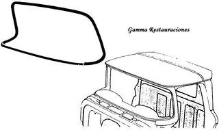 Empaque de Parabrisas modelos 1960-1963