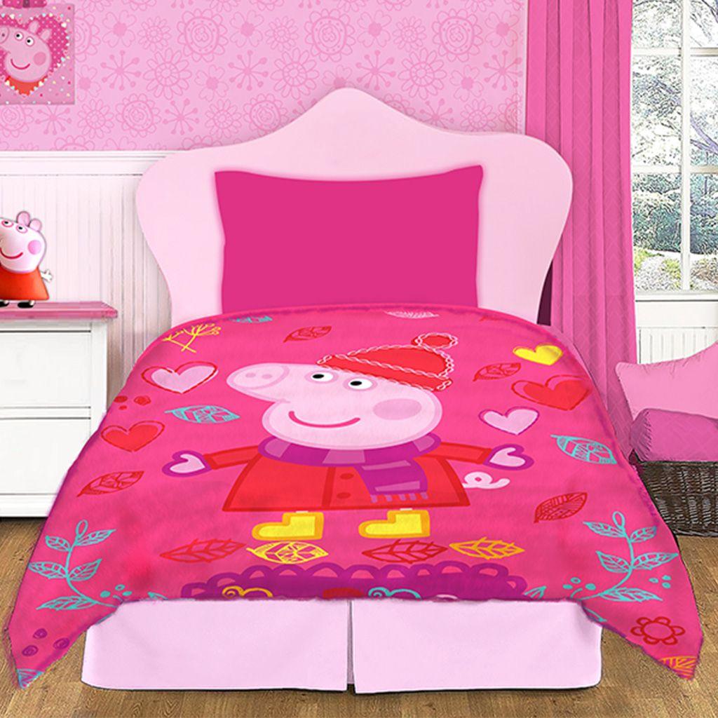 Frazada Disney Piata Flannel 1 Plaza Diseo Peppa Pig  Citiblanc