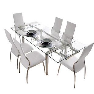 Juego de Comedor Mesa Extensible a 2m  6 sillas Viena