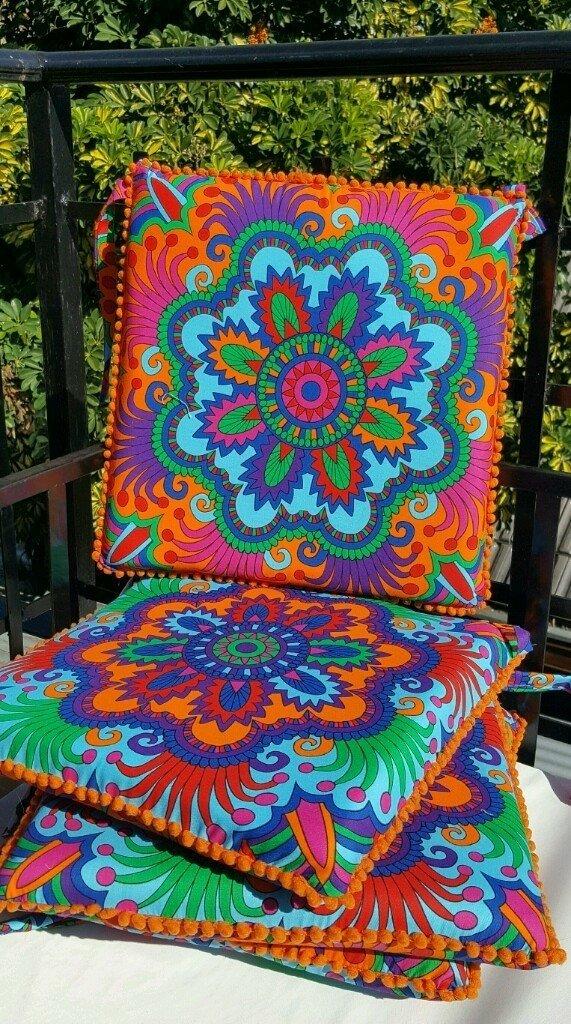 Conjunto de almohadones para silla Mandala