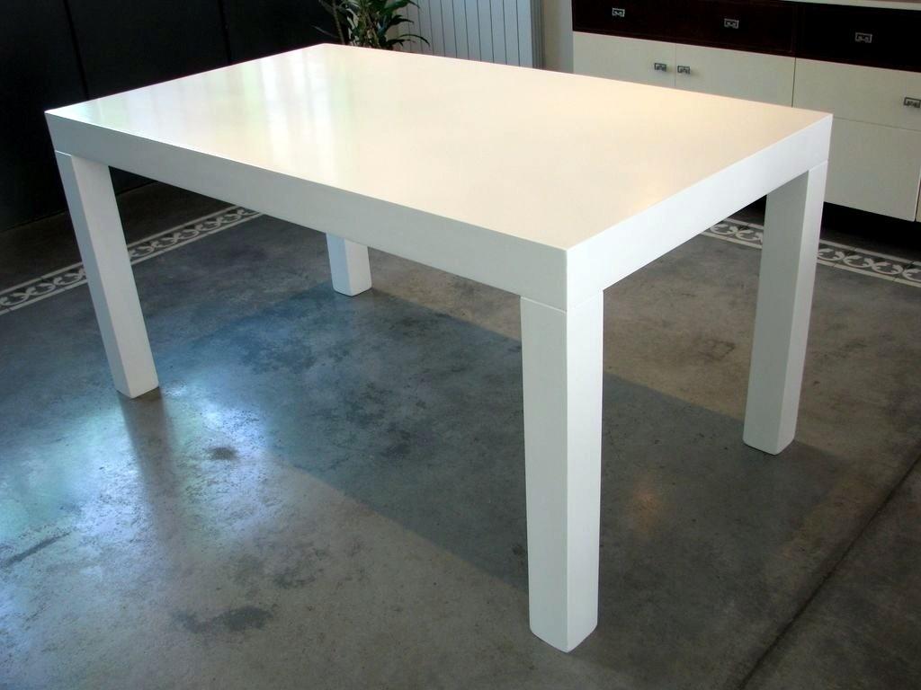 Mesa Cuadrada Blanca Extensible