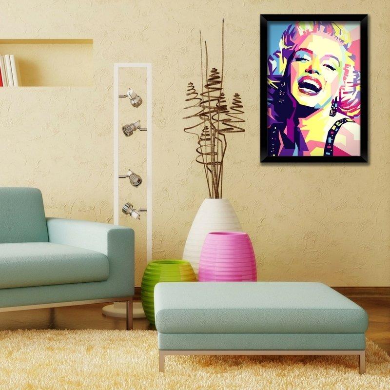 Quadro Marilyn Monroe Pop Art  Balaio de Ideias