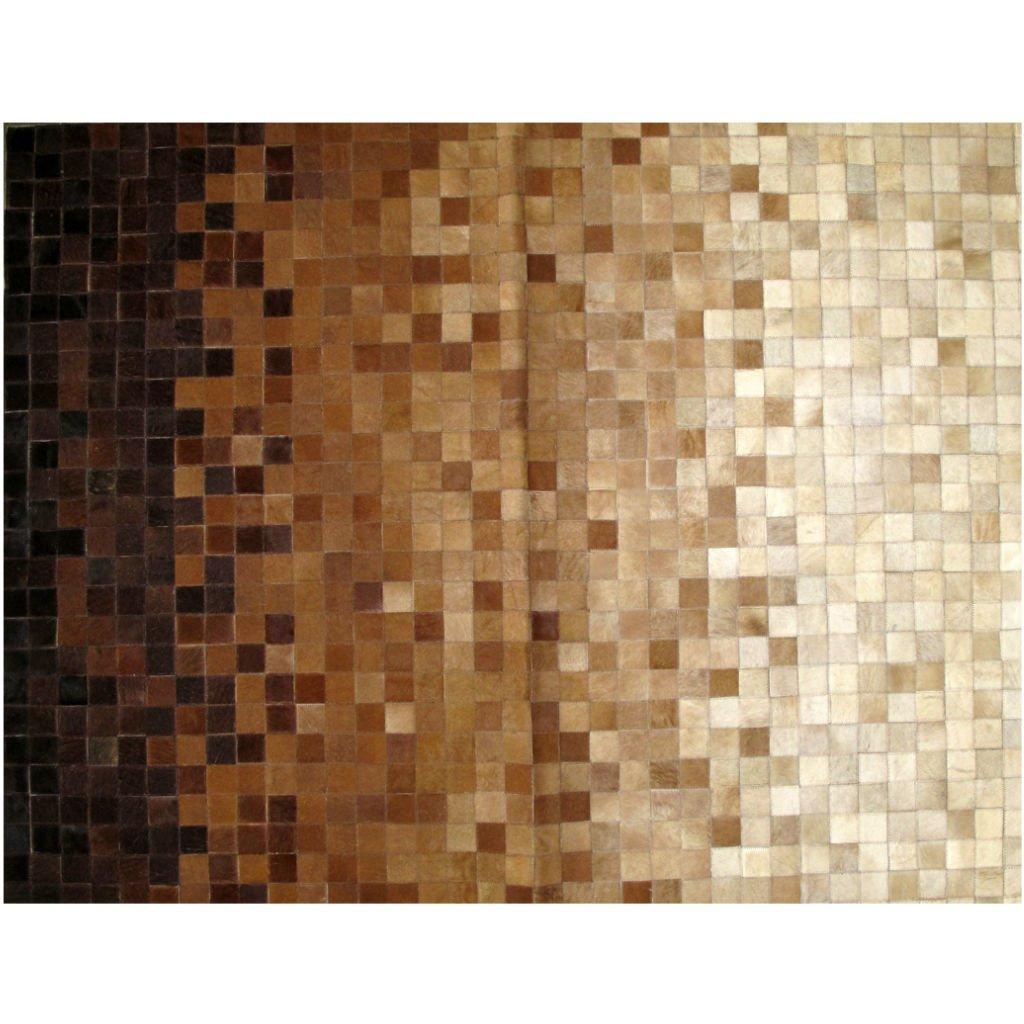 Pixeled Black Scale Cowhide Rug
