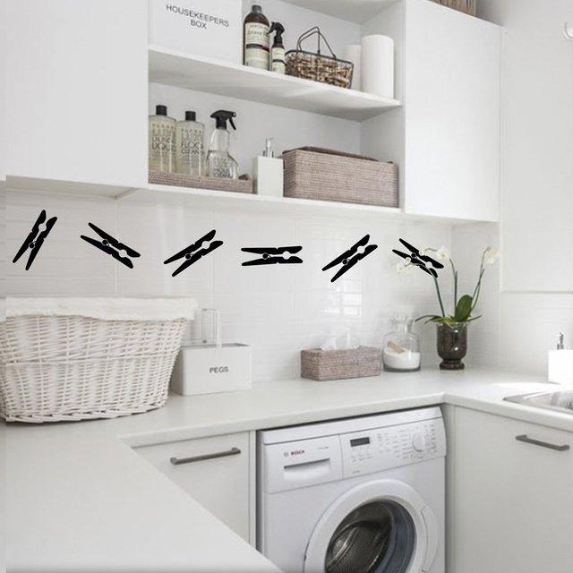 vinilo decorativo broches para ropa lavadero lavanderia