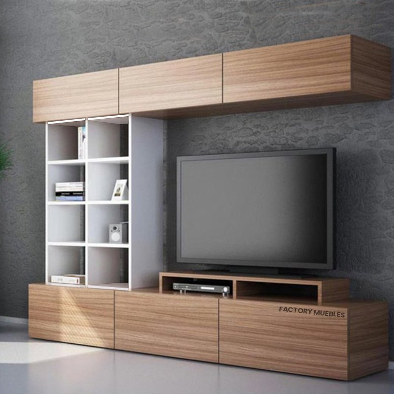 Modular Mesa Tv Led Melamina Valencia Factory Muebles