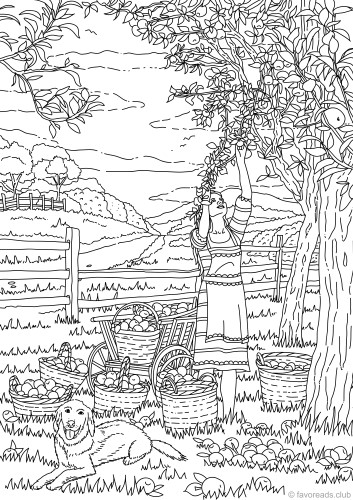 Harvest Coloring Pages For Adults : harvest, coloring, pages, adults, Harvest, Favoreads, Coloring
