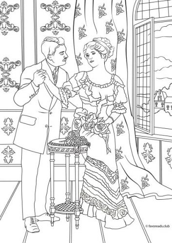 Victorian Era Printable Adult Coloring Pages from Favoreads