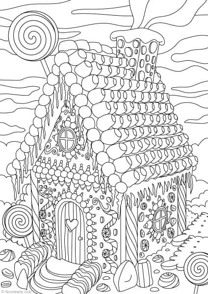winter stained glass coloring page