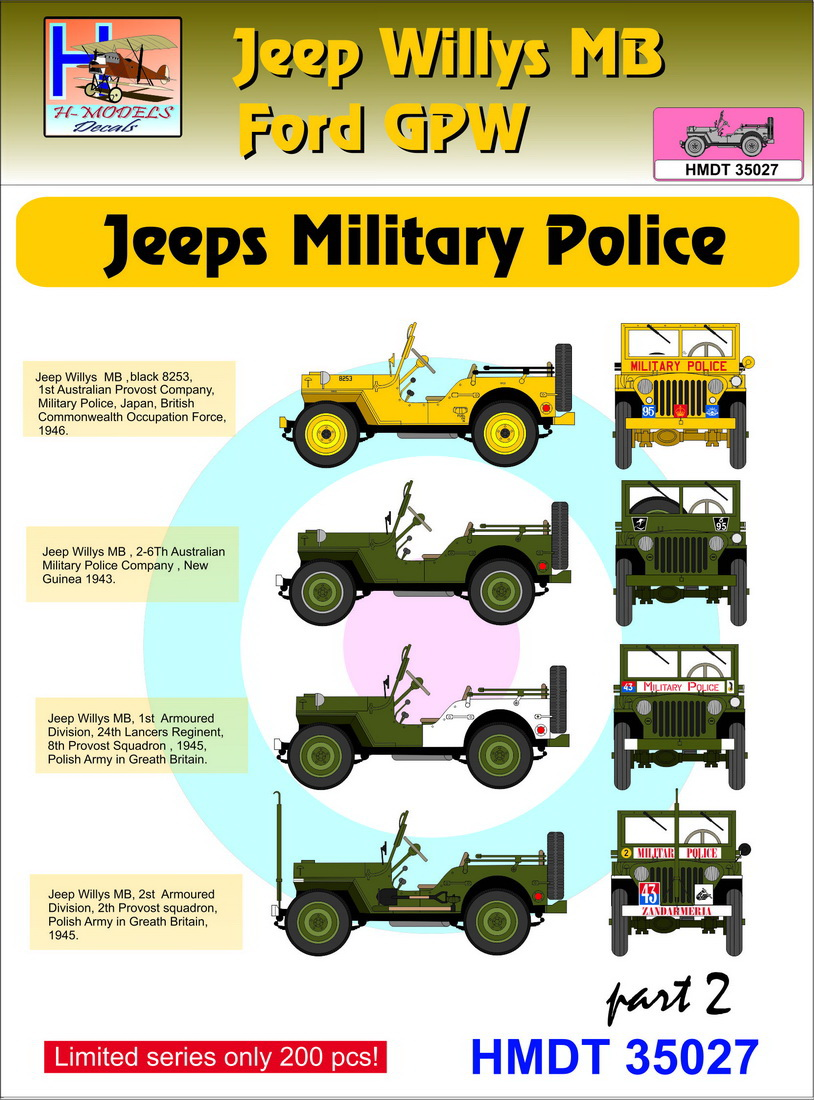 description willys jeep mb ford gpw military police pt 2 manufacturer h model decals code number hmt35027 scale 1 35 item type military vehicle  [ 814 x 1100 Pixel ]