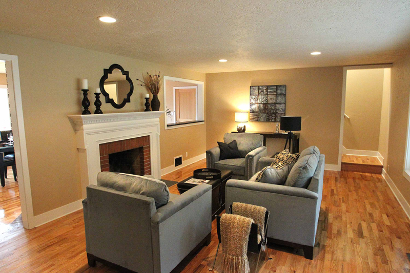 remodeling small living room interior decorating ideas large rooms before and after a bend 70 s home remodeled timberline west hills