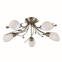 Gardenia Ceiling Light - antique brass flush