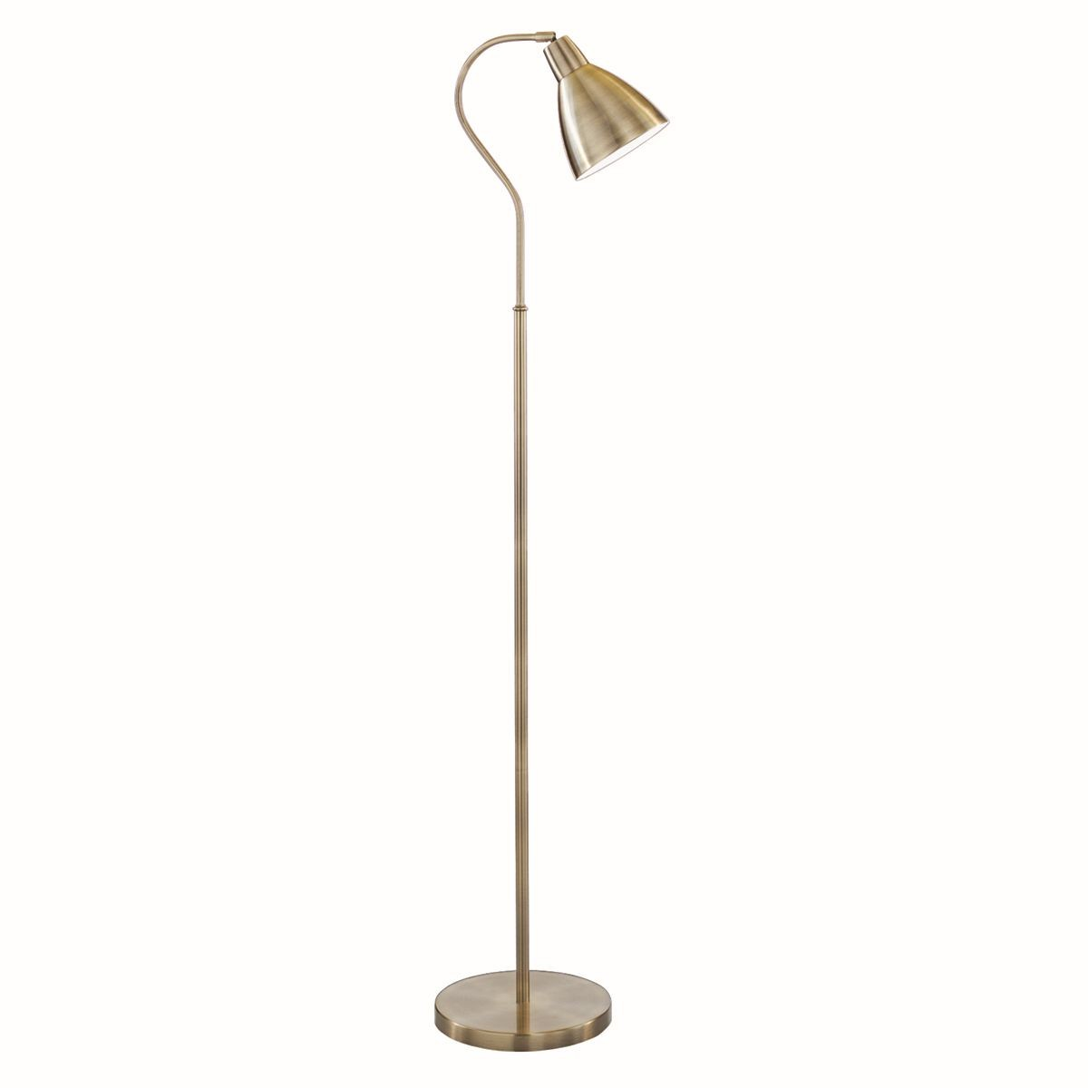 Traditional Floor Lamp  Ant Brass Head