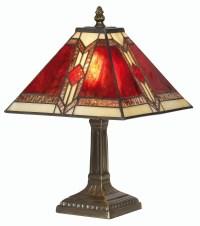 Aztec Tiffany Table Lamp - Small