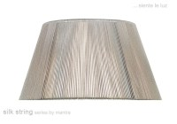 40cm Silk String Shade Silver Grey - Fabric Lampshades ...