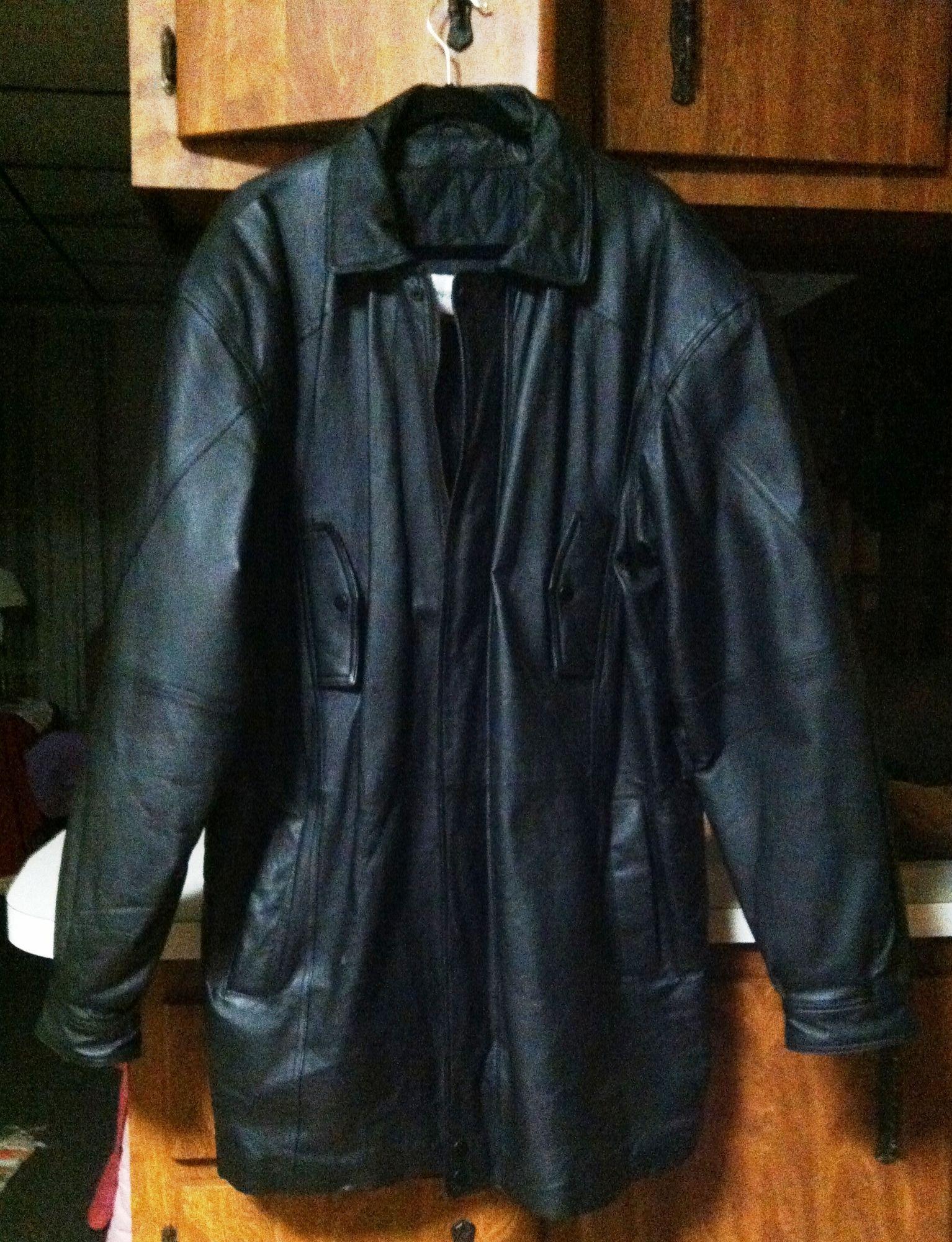 black leather jackets coat