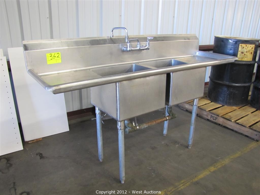 commercial kitchen sink restaurant tables west auctions auction surplus liquidation in oroville ca