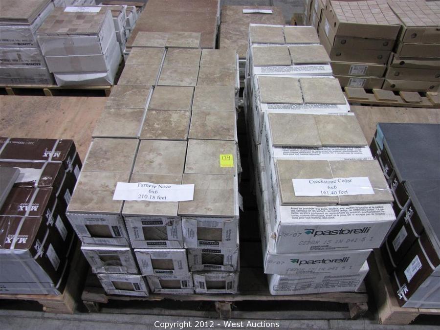 farnese noce and creekstone cedar 6x6 tiles