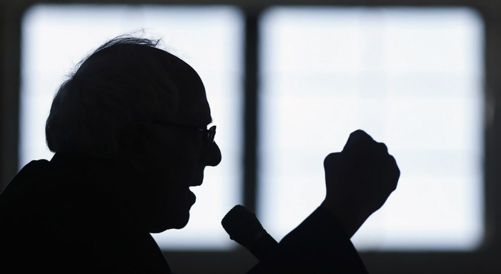 In this Jan. 21, 2016, file photo, then-Democratic presidential candidate, Sen. Bernie Sanders, I-Vt., speaks during a campaign stop in Peterborough, N.H. (Matt Rourke/AP)