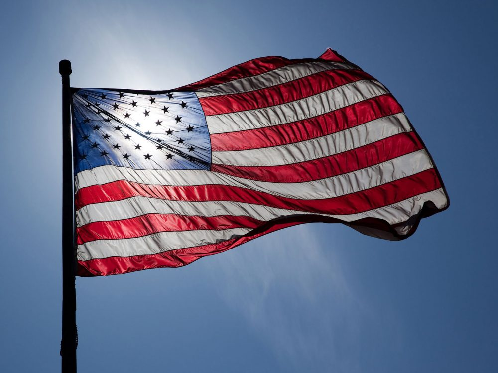 american flag to stay