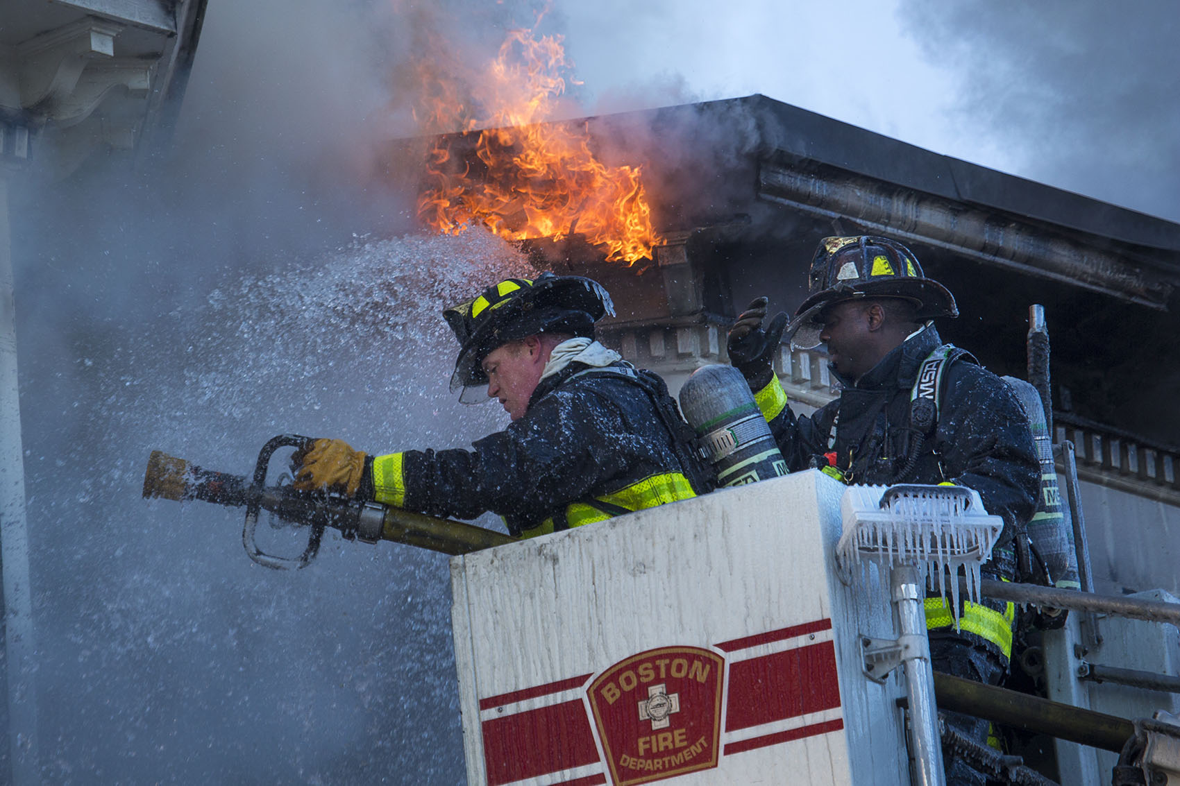Boston Firefighters Douse 6Alarm Fire In Charlestown