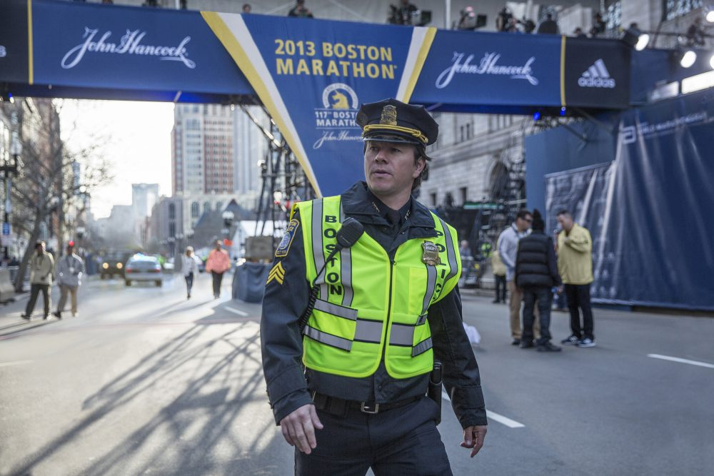 "Mark Wahlberg as fictional BPD Sergeant Tommy Saunders in ""Patriots Day."" (Courtesy CBS Films)"