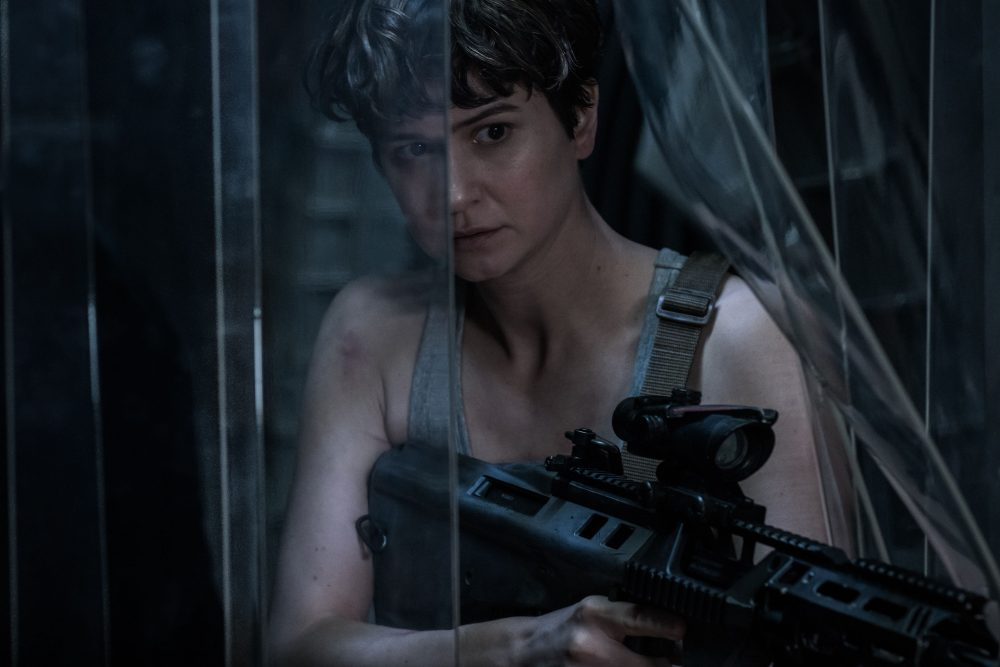 "Katherine Waterston as Daniels in ""Alien: Covenant."" (Courtesy Mark Rogers/Twentieth Century Fox)"