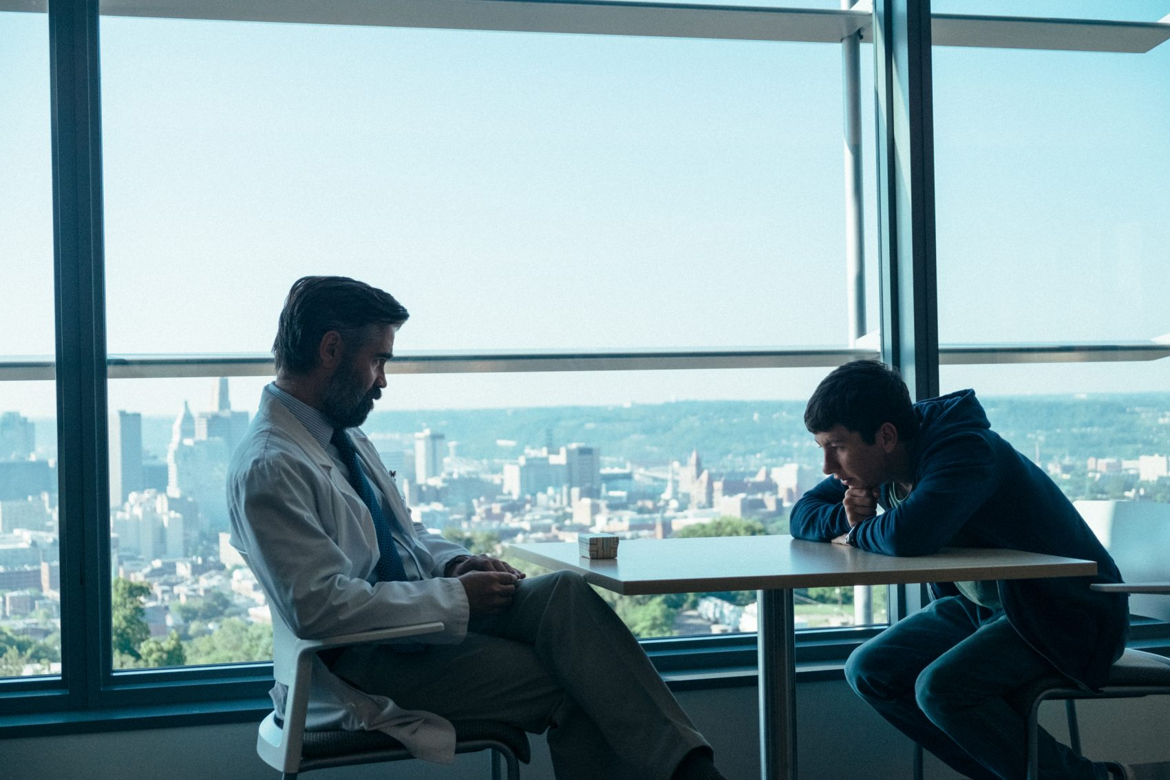 "Colin Farrell and Barry Keoghan in ""The Killing of a Sacred Deer."" (Courtesy Atsushi Nishijima/A24)"