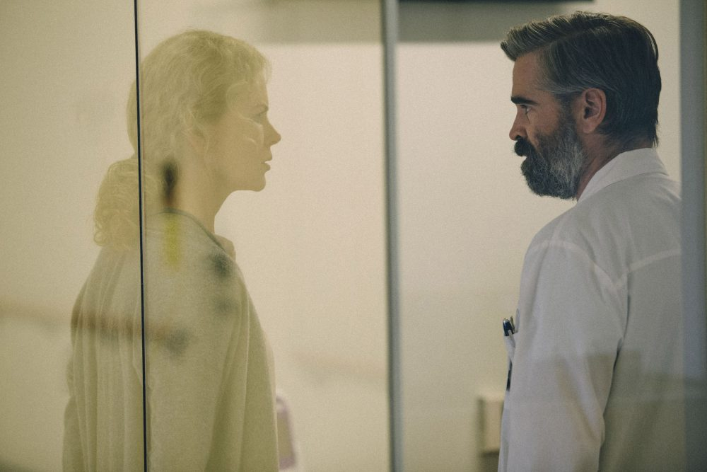 "Anna (Nicole Kidman) and Steven (Colin Farrell) in ""The Killing of a Sacred Deer."" (Courtesy Atsushi Nishijima/A24)"