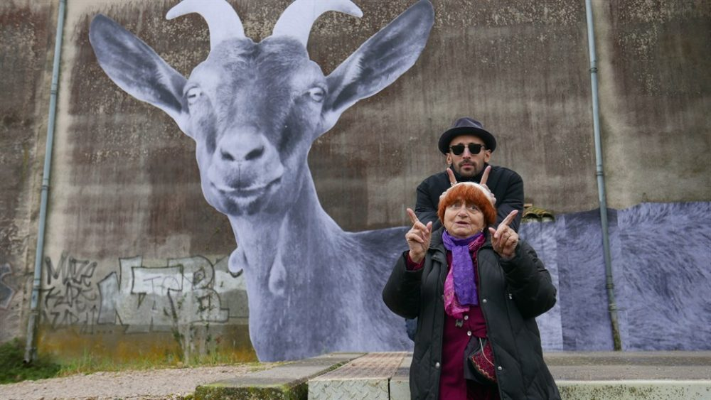 "JR and filmmaker Agnès Varda in ""Faces Places."" (Courtesy Cohen Media Group)"