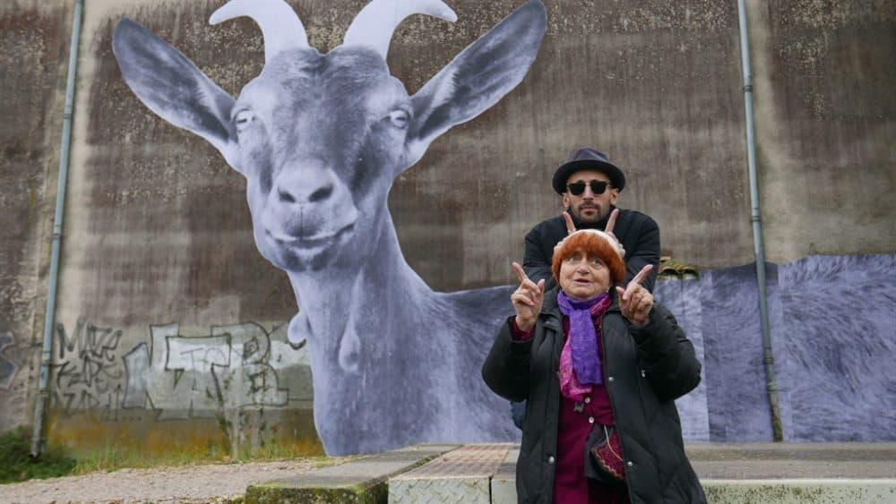 "JR and filmmaker Agnès Varda in ""Faces Places."" (Courtesy Cohen Media Group)"