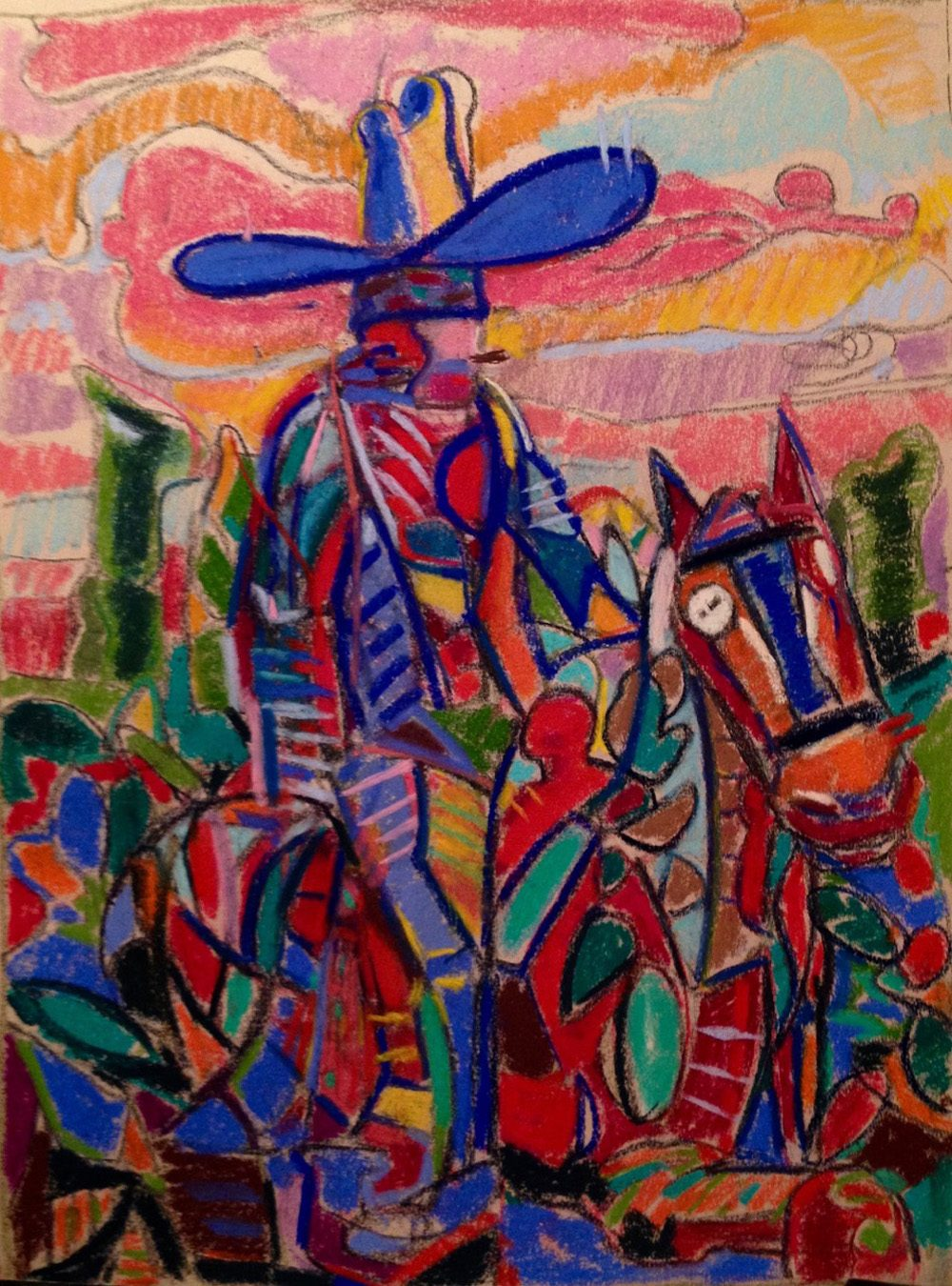 "Enrique Flores-Galbis' ""Pancho,"" painted with pastel on archival canson paper in 2017. (Courtesy of Gallery Oh!)"