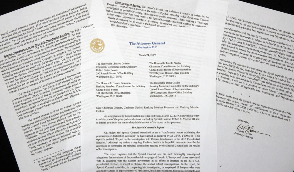 Image result for IMAGES WILLIAM BARR LETTER
