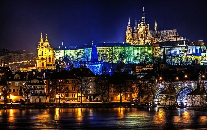 The spellbinding view of Prague at night