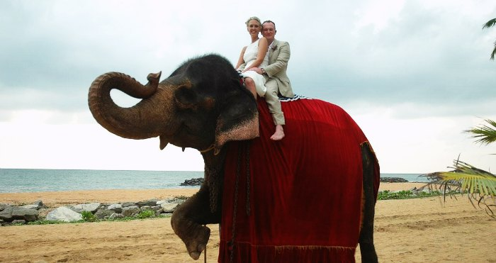 Couple in one of Asia's best honeymoon destination in summers