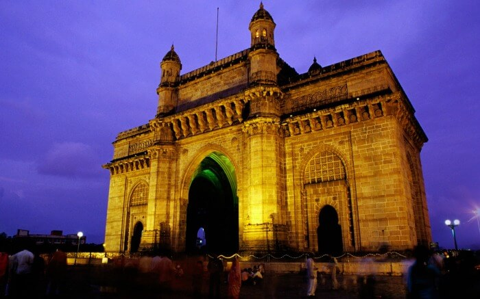 The Gateway of Mumbai lies by the Arabian sea on the South Mumbai harbor