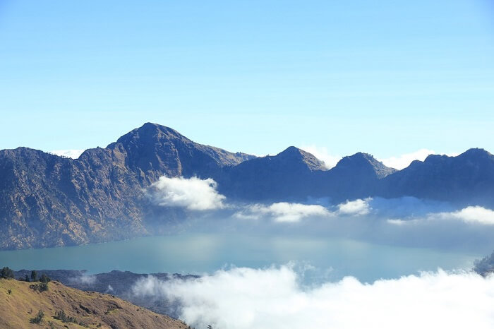 View from top of Mt Rinjani