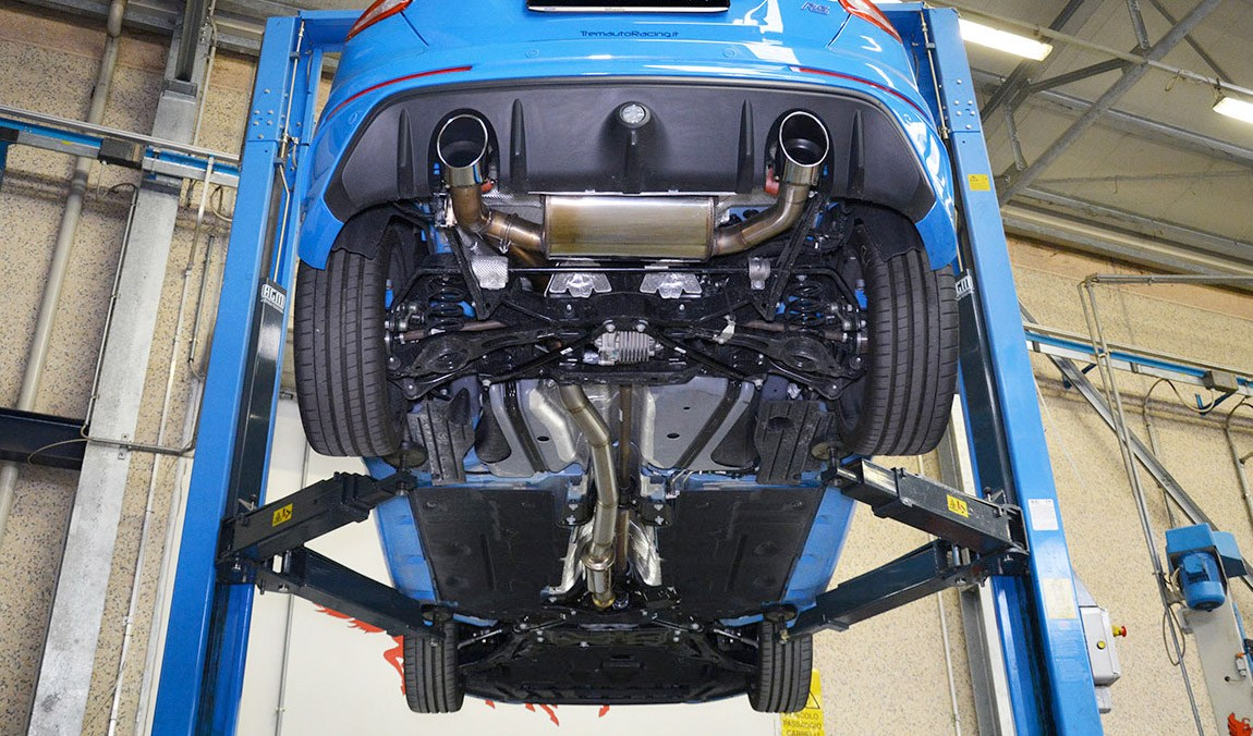 supersprint rear exhaust with valve