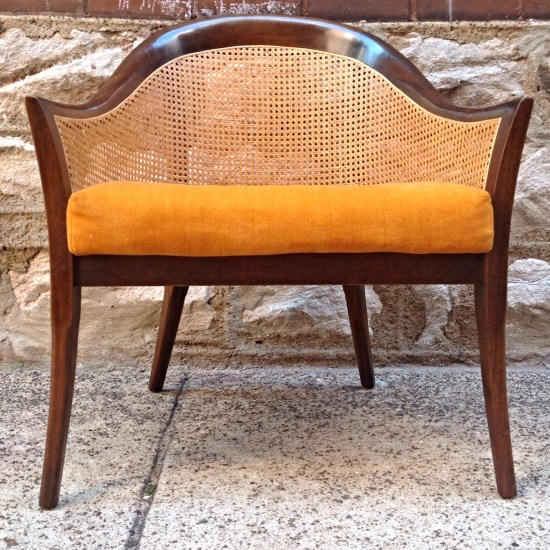 mid century modern cane barrel chairs cost to rent chair covers for wedding harvey probber caned back rare backed by
