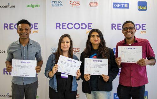 Alunos formados na Recorde - Foto: divulgação