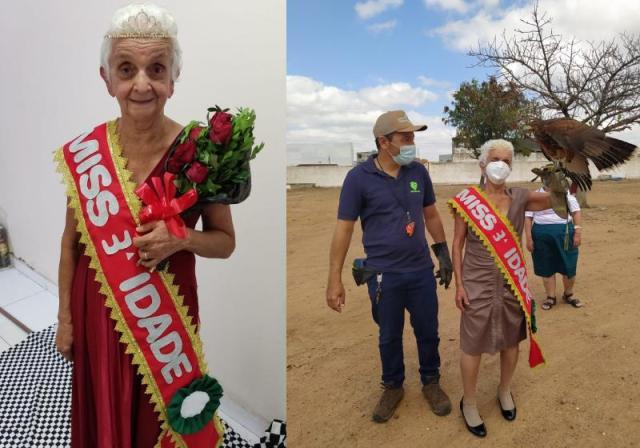 Dona Maria venceu o concurso Miss Terceira Idade 2021 - Fotos: arquivo pessoal