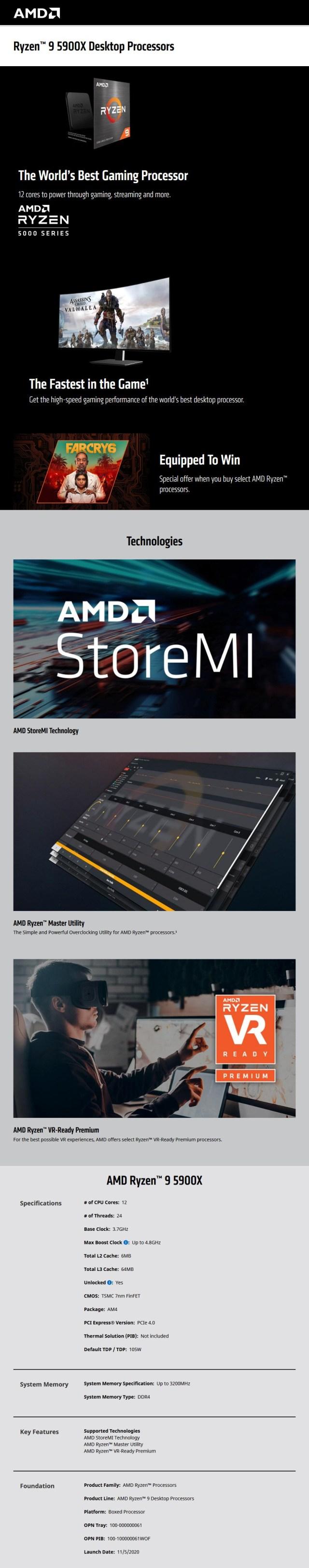 Bundle Deal: AMD Ryzen 9 5900X + Gigabyte X570 AORUS PRO WIFI ATX Motherboard - Desktop Overview 1
