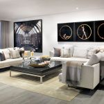 Modern White Living Room With Black Coffee Table Luxe Interiors Design