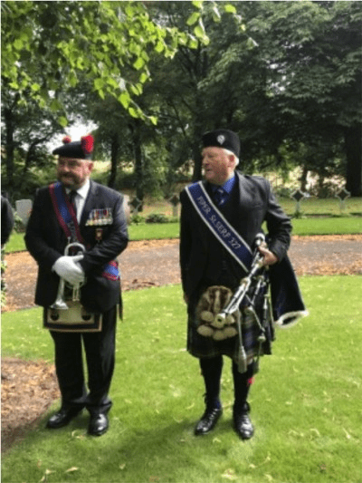 Bugler and PGL Piper