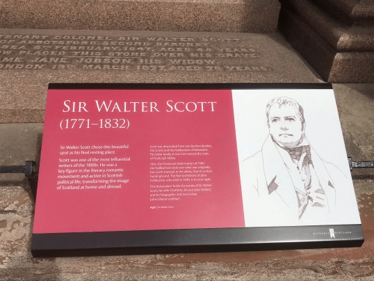 Adjacent to the grave of Bro. Sir Walter Scott