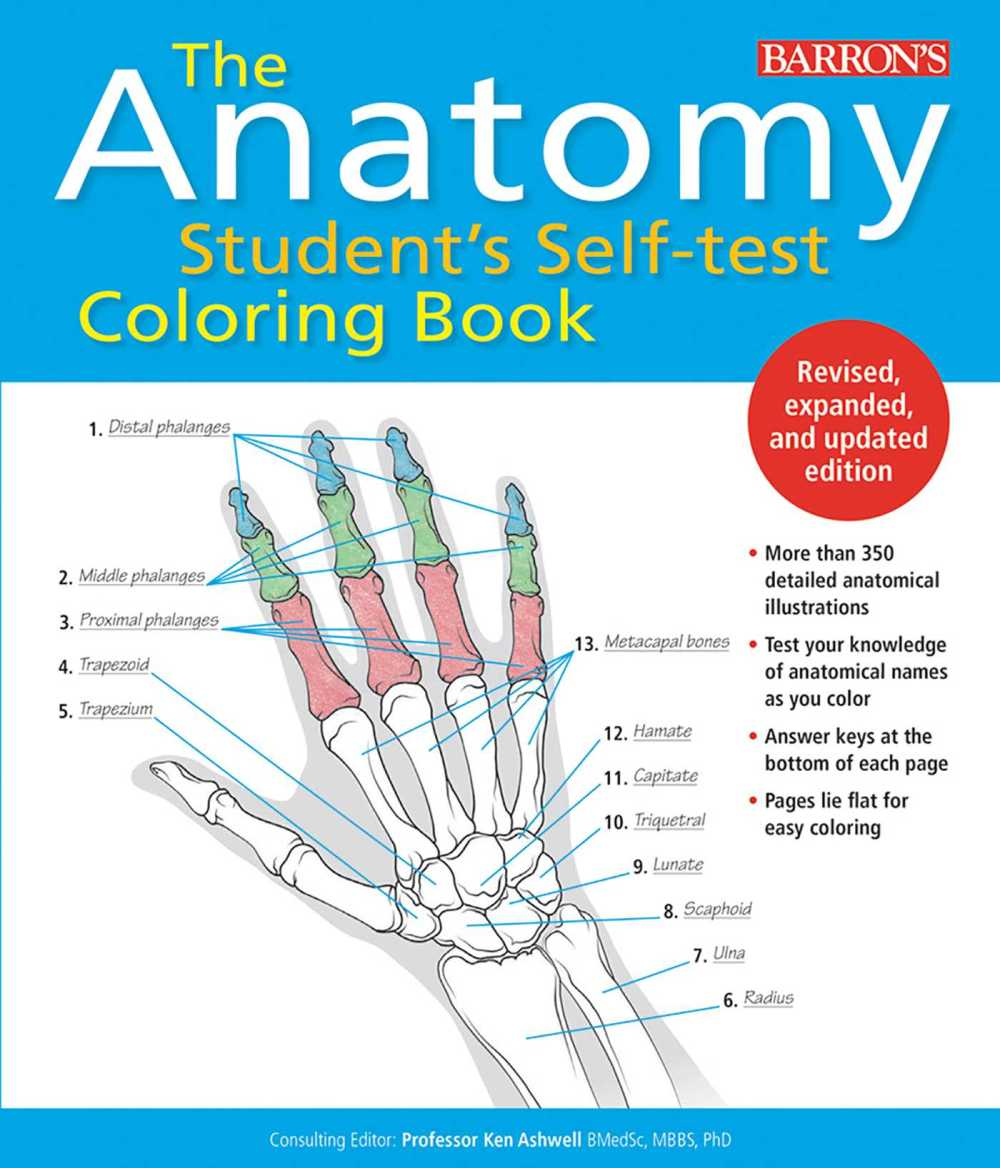 medium resolution of anatomy student s self test coloring book