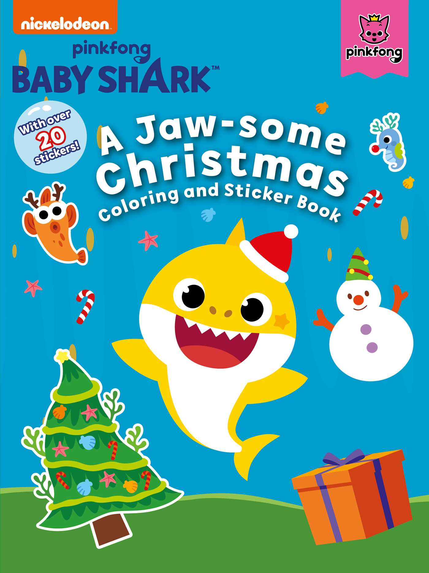 Baby Shark Christmas : shark, christmas, Shark:, Jaw-some, Christmas, Coloring, Sticker, Pinkfong, Official, Publisher, Simon, Schuster