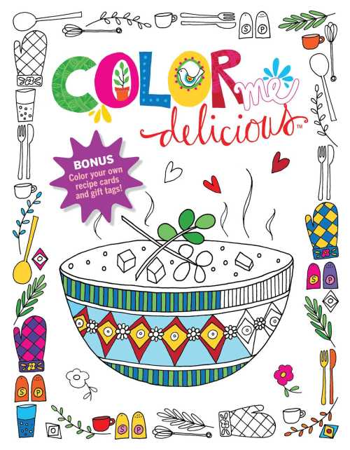 small resolution of color me delicious adult coloring book