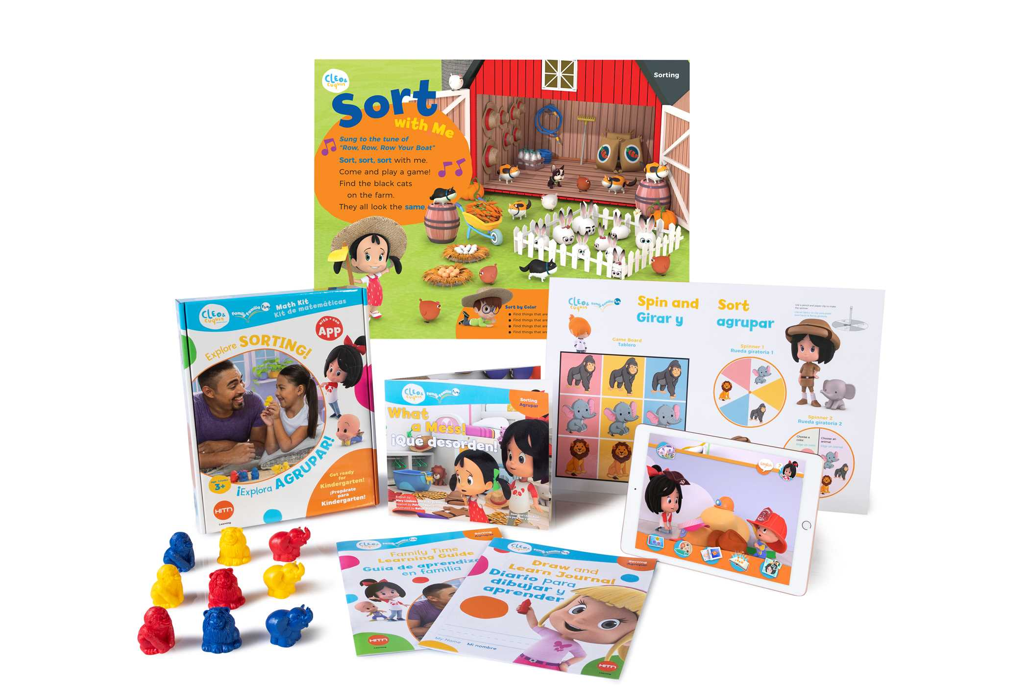 Cleo Amp Cuquin Family Fun Sorting Math Kit And App