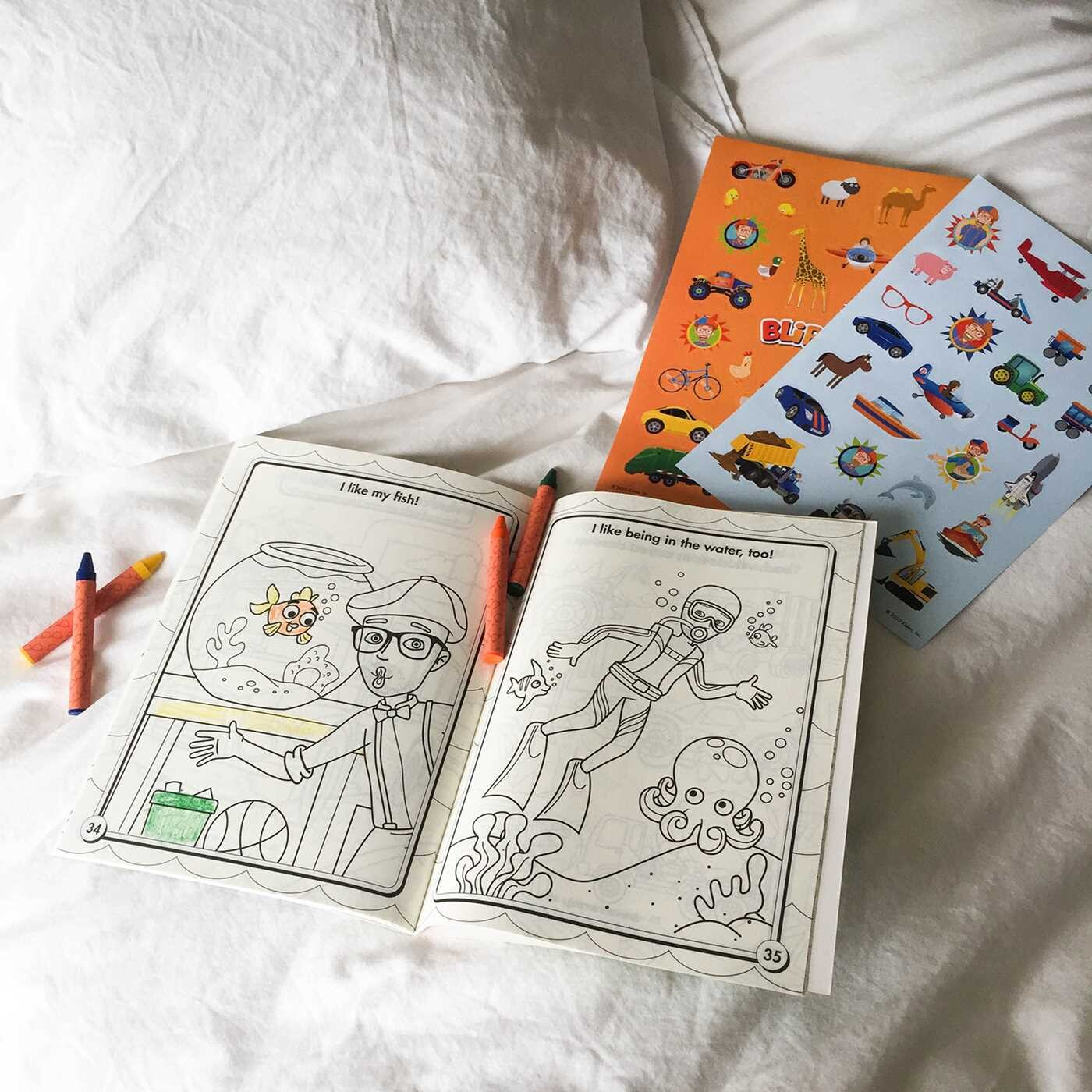 Blippi I Like That Coloring Book With Crayons