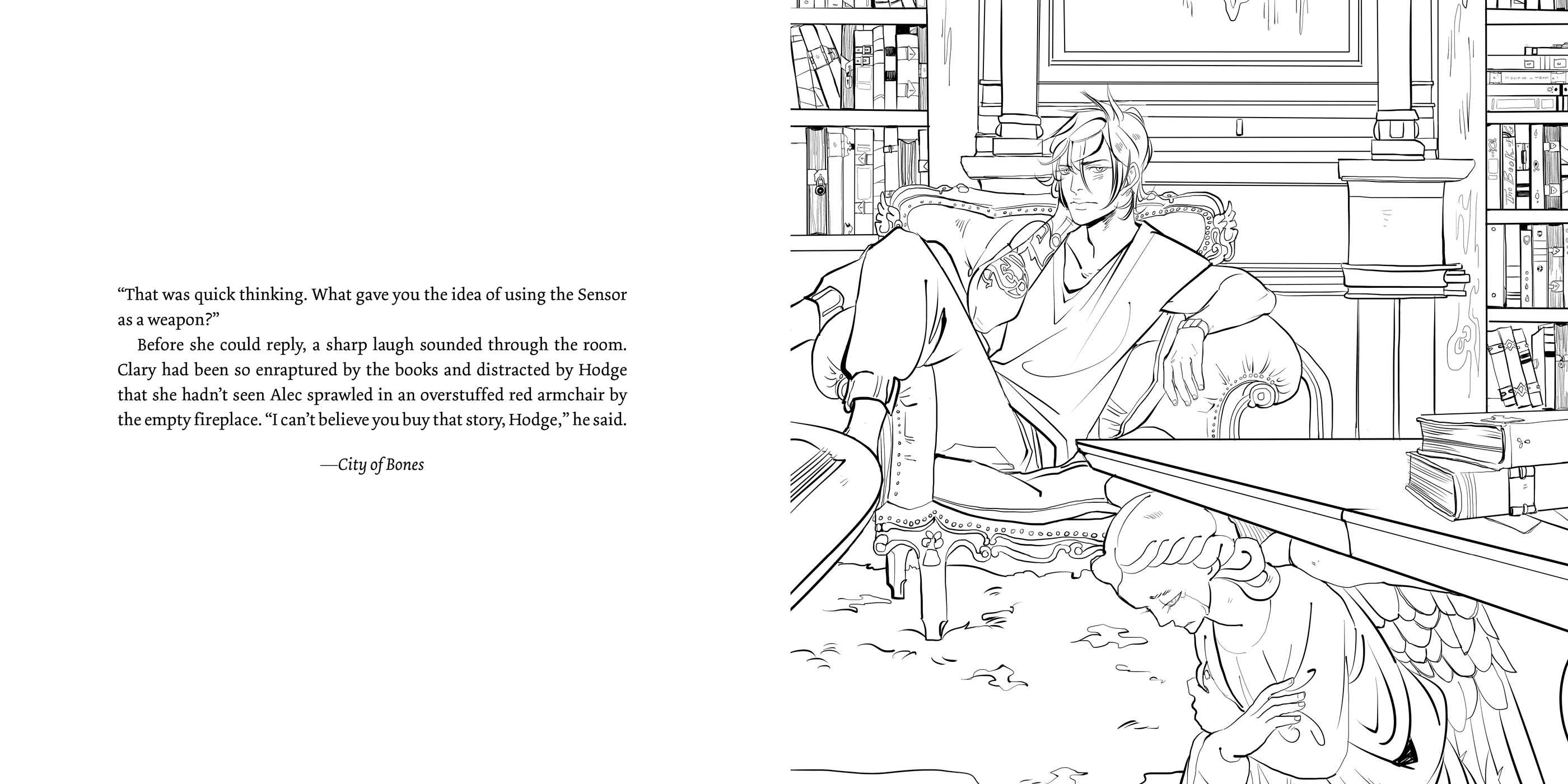 The Official Mortal Instruments Coloring Book Book By Cassandra